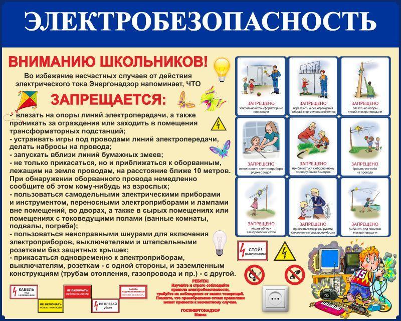 Уголок по электробезопасности электробезопасность безопасность билеты
